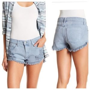 PISTOLA Distressed Frayed Cut-Off Shorts NWT